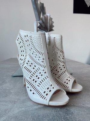 keine Chaussure à talons carrés blanc