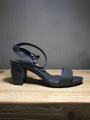 Sandalias de tiras gris antracita