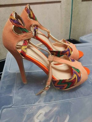 0039 Italy Platform Sandals multicolored