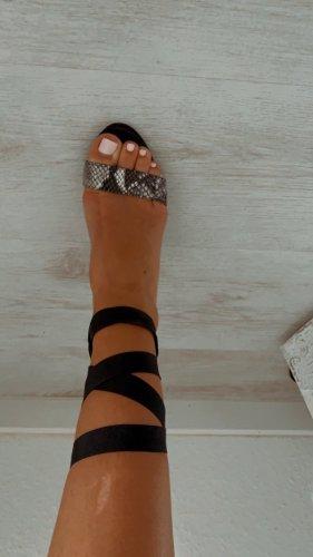 Asos White High Heel Sandal dark blue-white