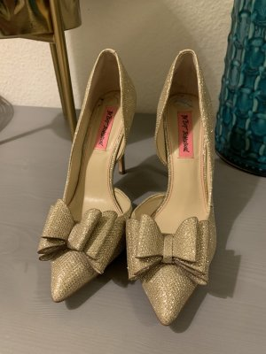 Betsey Johnson High Heels gold-colored