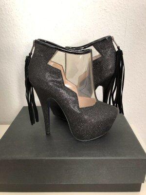 Bianco High Heels black leather