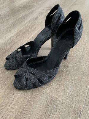High Heels Black mit Glitzer