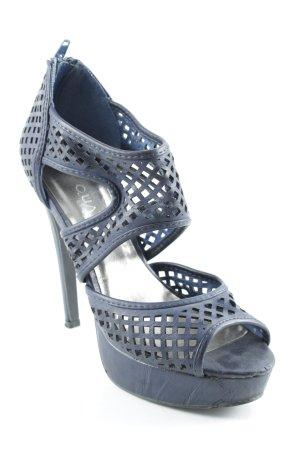 High Heels blauviolett Elegant