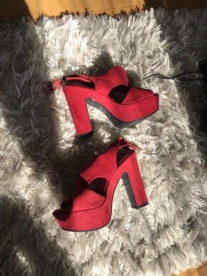 New Look Décolleté con plateau rosso mattone