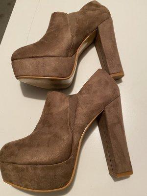 Buty na platformie jasnobrązowy