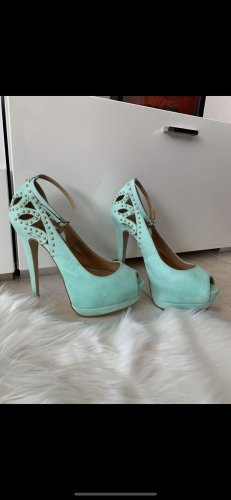 High Heels baby blue-turquoise