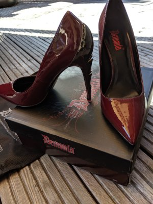 High Heels Größe 37 demonia Blazer high voltage bordeaux rot silber pleaser USA