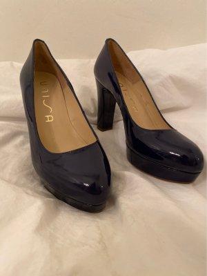 High heels in nachtblau /Lackleder