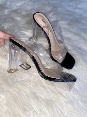 High Heels in schwarz Transparent Neu gr. 37