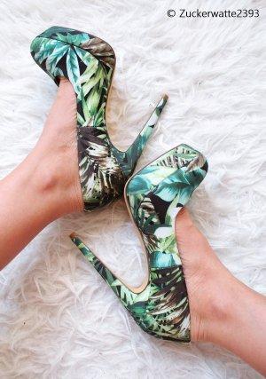 High Heels Jungle Inspired Schuhe Leaf 35/36 Blink