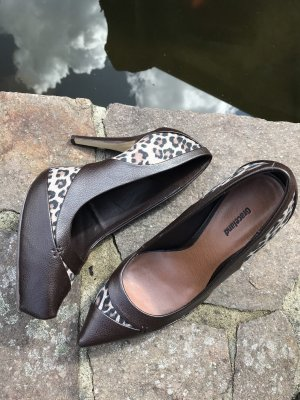 High heels Leoprint