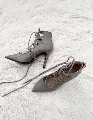 Catwalk Wysokie obcasy srebrny