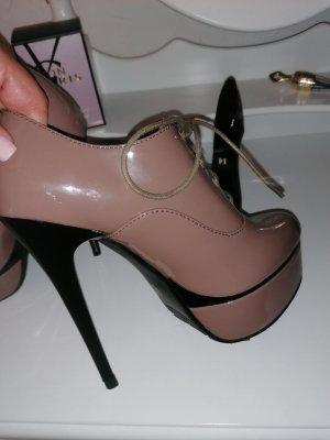 High Heels, nude glänzend neu gr.37