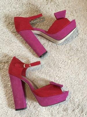 High Heels Party rot pink Gr 39 von ASOS Echtleder Blogger Vintage 80ies 80er