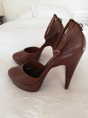 High heels Pinko braun cognac