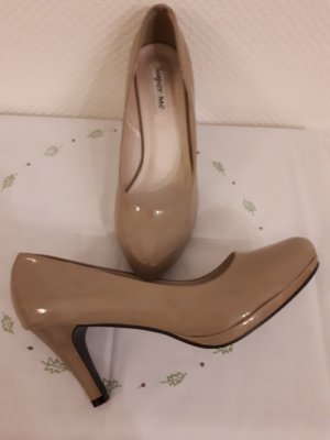Super Me Platform Pumps beige imitation leather