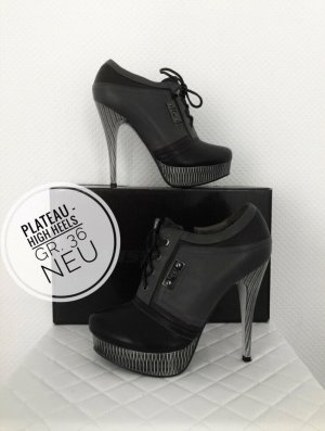 High heels Pumps ankle Boots Plateau neu hohe Schuhe 36 vintage blogger