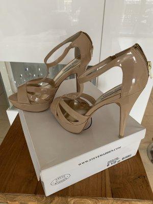 High Heels .. Pumps .. Sandale .. nutefarbend .. Gr. 39,5/40 # Steve Madden # Neu