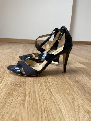 High Heels Pumps Sandalen Marineblau ca. 10cm