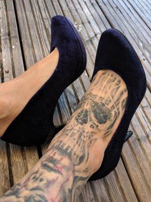 High Heels Pumps von Tamaris Größe 37 samt blau elegant
