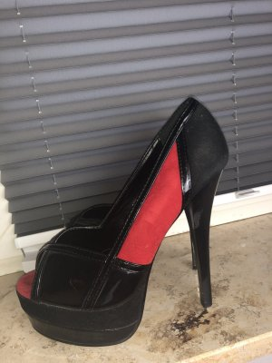High Heels rot/schwarz