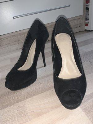 High-Heels Samt schwarz