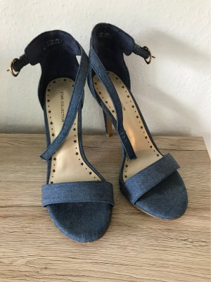 High Heels Sandaletten in Jeans Optik
