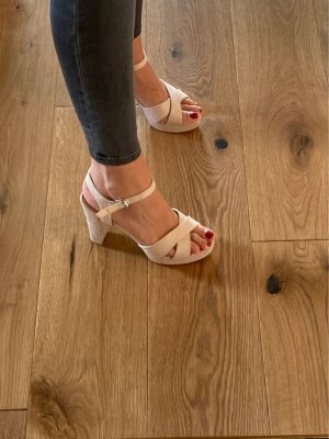 High Heels Sandaletten in nude