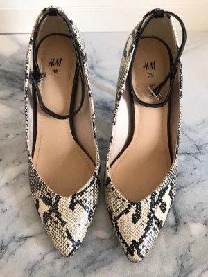 High-Heels, Schlangenleder Muster, Animalprint, 39, H&M, neu, mit Fesselriemen
