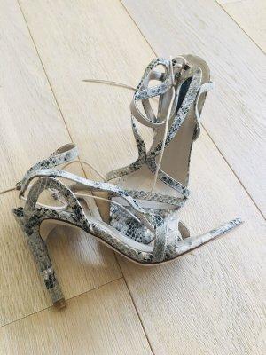 High Heels Schlangenlederoptik Zara Gr.39 Sandaletten