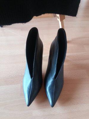 High Heels Schuhe Leder V Neck Ausschnitt