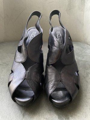 High Heels schwarz Leder
