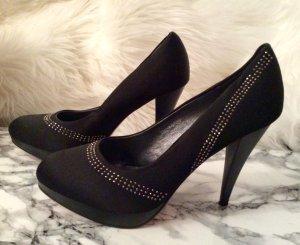 High Heels schwarz mit Steinen schuhe