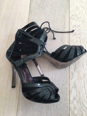 High Heels schwarz Suede Gr. 38