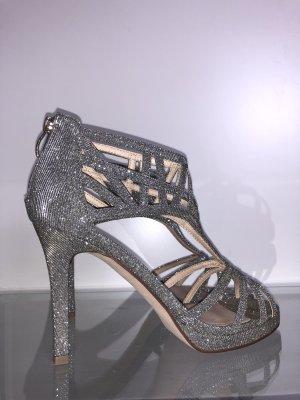 High heels silber Glitzer