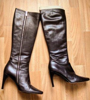 High Heels Stiefel Leder
