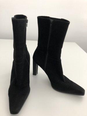 di Sandro Zipper Booties black leather