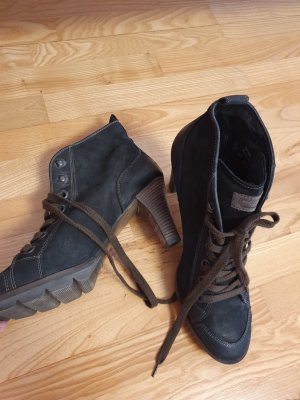 Paul Green Lace-up Booties anthracite