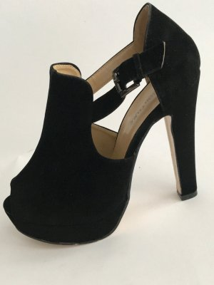 Boohoo Peep Toe Pumps black