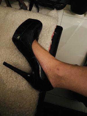 High heels super Zustand Hochglanz schwarz