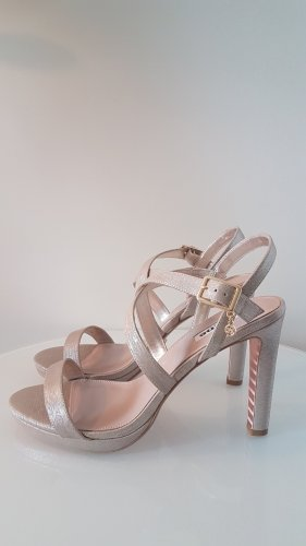 high heels von dune in gold