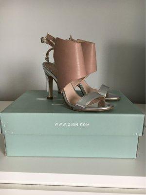 Zign High Heel Sandal silver-colored-dusky pink