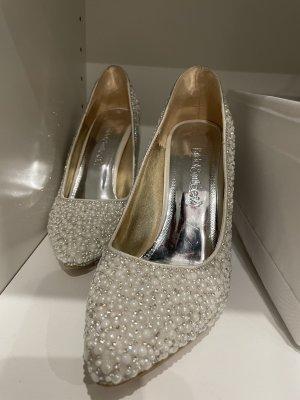 High heels Weiss mit Steinen