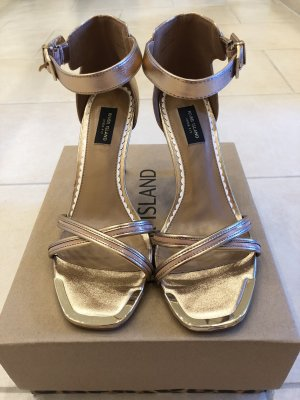 River Island Strapped Sandals rose-gold-coloured