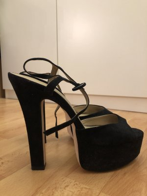 Zara Sandalias con plataforma negro