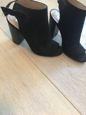 High Heels Zwart Open Toes Schuhe Gr.38 look