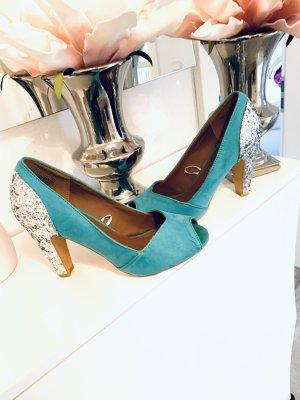 Sonstige Sandalias de tacón alto azul claro