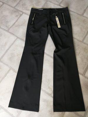 High pantalón de cintura baja negro