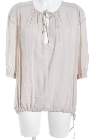 High Langarm-Bluse nude Elegant